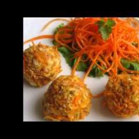 Cыроедческие ежики с морковной лапшой